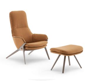 褐色单人靠椅沙发